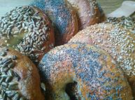 Bagels close-up