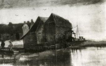 Watermolen te Gennep - Vincent van Gogh (werk F1144a)