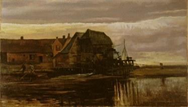 Watermolen te Gennep - Vincent van Gogh (werk F125)