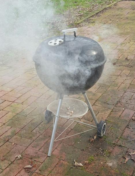 Roken in de barbecue