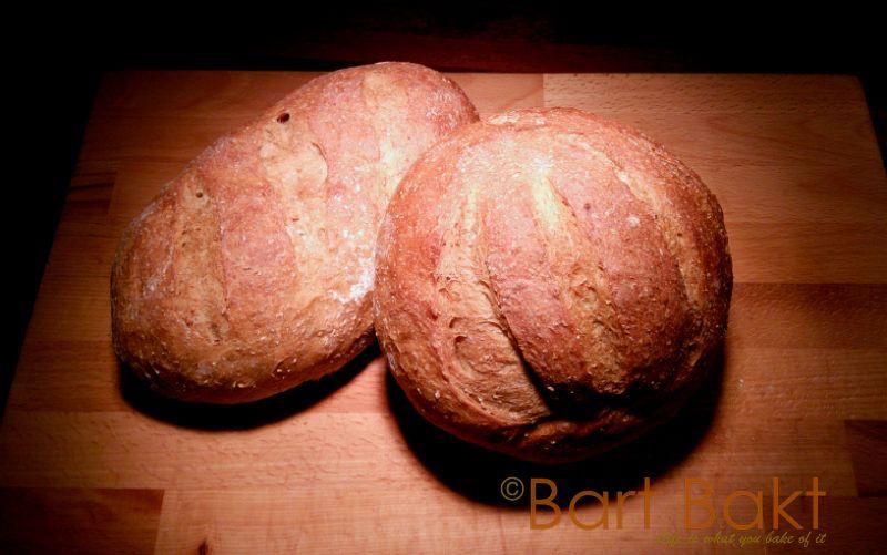 Bruin vloerbrood, een eenvoudig maar lekkerbroodje