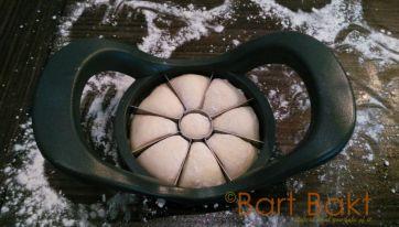 Rozetjes vormen met appelsnijder 1