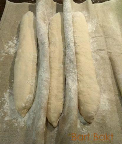 Stokbrood voor 2e rijs